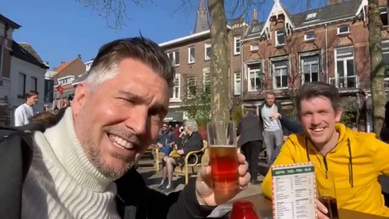 Guido Weijers in de zon op 't terras: 'Als het veilig kan, sta het dan toe' - Omroep Brabant