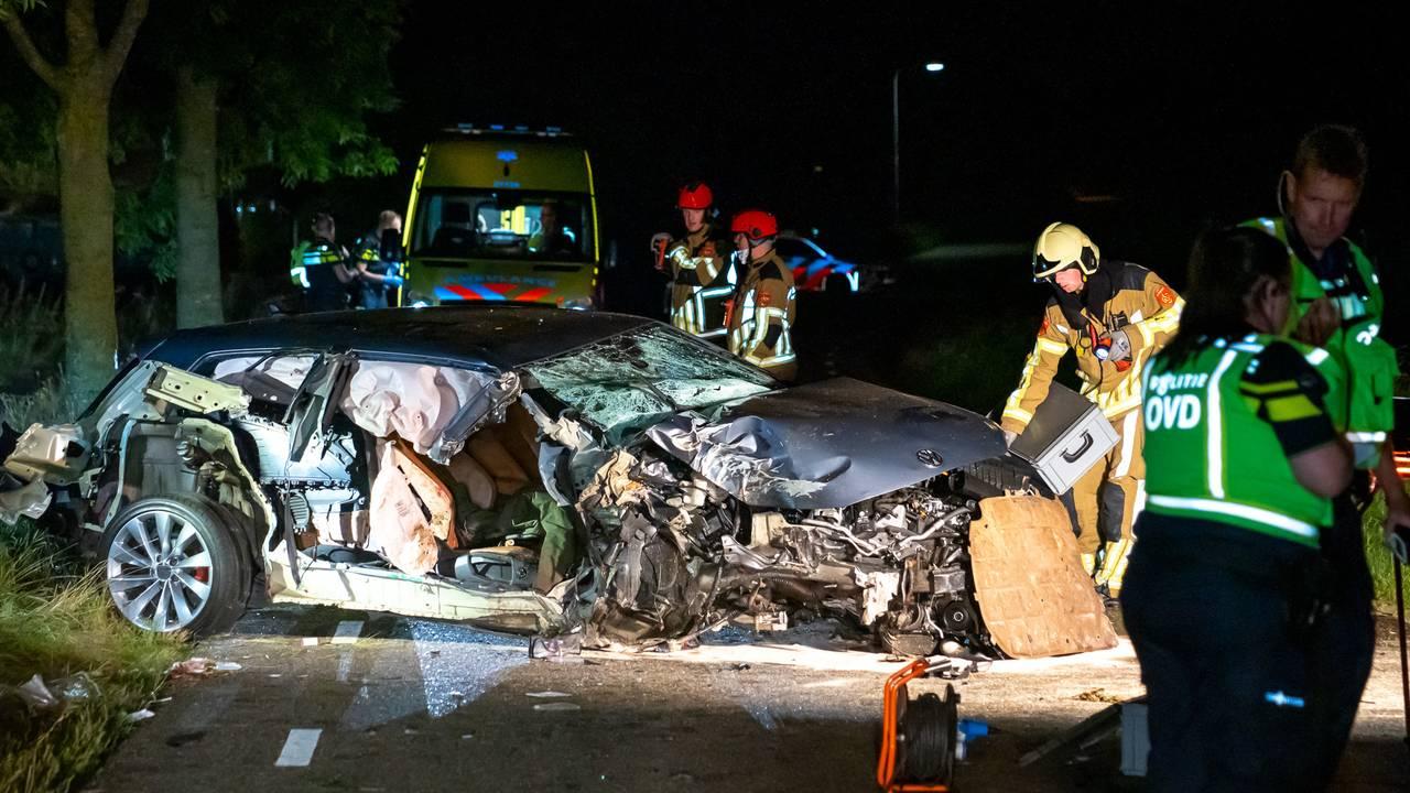 Zwaargewonde bij ongeluk in Heusden, hulpdiensten rukken massaal uit.