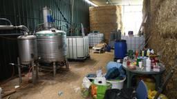 Het drugslab in Vorstenbosch (foto: Marco van den Broek/SQ Vision).