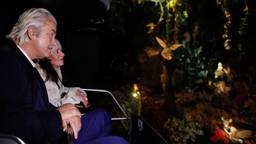 Geert Wilders maakt een ritje in de Droomvlucht in de Efteling (foto: ANP 2018/Bas Czerwinski)