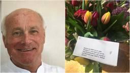 Geen groot feest, wel bloemen voor tandarts Sjef.