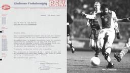 Links de brief van PSV en rechts het debuut van Marco van Basten bij Ajax (foto's: Ajax & ANP).