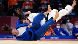 Guusje Steenhuis tijdens de landenwedstrijd  op de Olympische Spelen (foto:ANP).