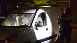 Eén van de beschadigde auto's (foto: Perry Roovers/SQ Vision Mediaprodukties).