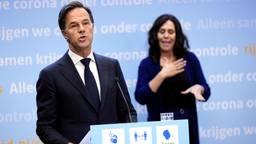Demissionair premier Rutte tijdens een eerdere persconferetie (foto: ANP/Phil Nijhuis).