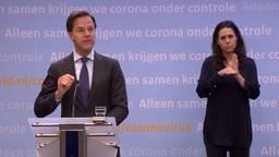 Mark Rutte bij de persconferentie 19 mei.