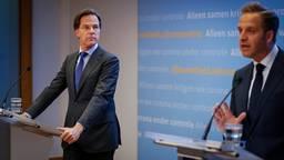 Donderdag geven premier Rutte en coronaminister De Jonge weer een persconferentie. (Archieffoto: ANP / Bart Maat)