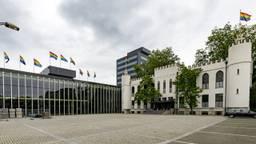 De vlaggen in Tilburg (foto: Joris Buijs).