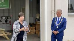 Commissaris van de Koning Ina Adema in gesprek met de burgemeester van Bergen op Zoom