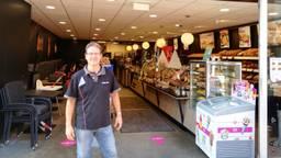 Bakker Werner voorkomt inbraak bij kledingzaak. (eigen foto)