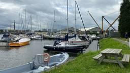 Havenmeester Inge van Ekelen kijkt uit over de Bergse jachthaven