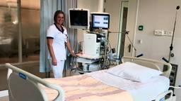 Eén van de IC-kamers in het Amphia Ziekenhuis in Breda. (foto: Raoul Cartens)