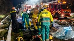 Het ongeluk gebeurde op de A27 bij Oosterhout (foto: Marcel van Dorst/SQ Vision).