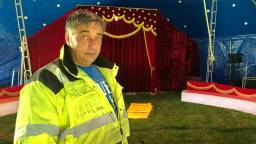 Directeur Robert Zinnicker van Circus Barani is ten einde raad. (Foto: Erik Peeters)