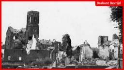 Het zwaar verwoeste Hedel in 1945 (foto: Regionaal Archief Rivierenland).
