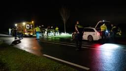 Het ongeluk op de N283 bij Meeuwen gebeurde vrijdagnacht rond vier uur (foto: Iwan van Dun/SQ Vision).