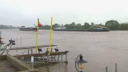 Hoogwater bij Maashees in de gemeente Boxmeer.