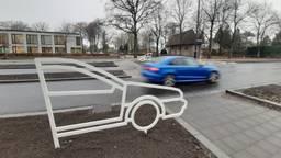 Een van de nieuwe verkeerssilhouetten (foto: gemeente Breda).