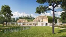 Zo moet Forest Village in Luyksgestel eruit komen te zien. (afbeelding: Landal GreenParks)