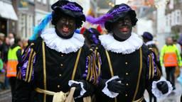 Zwarte pieten bij de intocht in Den Bosch.