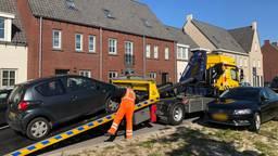 De auto die in beslag is genomen (foto: Alice van der Plas).