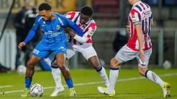 Willem II ging strijdend ten onder tegen Vitesse (foto: OrangePictures).