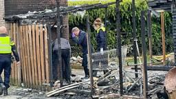 De schade aan het huis aan het Peelhof in Helmond is aanzienlijk (foto: Harrie Grijseels/SQ Vision).