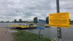 Geen recreatieve fietsers meer toegestaan op de Maasveren (foto: Jos Verkuijlen).
