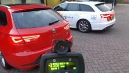 De automobilisten werden betrapt tijdens een snelheidscontrole op de Midden-Brabantweg (foto: Team Verkeer Zeeland-West-Brabant).