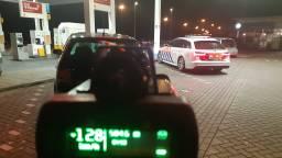 Een van de automobilisten reed met een snelheid 128 kilometer per uur langs de wegwerkers (foto: Twitter Team Verkeer Zeeland-West-Brabant).