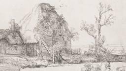 Rembrandt, Landschap met kunstenaar