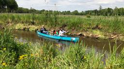 Tussen de Belgische grens en de Venbergse watermolen mag vanaf maandag niet gevaren worden (Foto: Imke van de Laar)