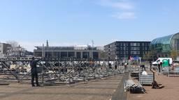 De voorbereidingen voor de 538 Oranjedag in Breda waren zondag al in volle gang (foto: Imke van de Laar).