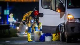 Bestelbus vol drugsafval gedumpt op viaduct in Eindhoven