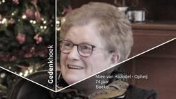 Mien van Haandel-Opheij genoot tijdens haar leven met volle teugen van de kleinkinderen.