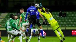 Mohamed Berte van FC Den Bosch probeert te scoren. Foto: Orangepictures.