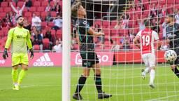 Teleurstelling bij RKC-spelers na een tegentreffer op bezoek bij Ajax (foto: OrangePictures).