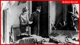 De laatste foto van Hitler, eind april 1945 in de puinhopen van de Rijkskanselarij.