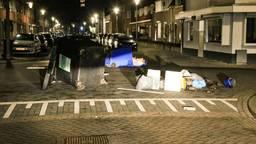 Een beeld van de troep die vandalen achterlieten.