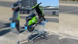 Een deelscooter in Eindhoven (Foto: Twitter /kimskinskipster).