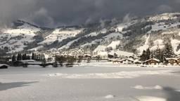 Beelden van de sneeuw in Tirol bij de familie Van de Kasteele.