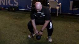 NAC-supporters trainen en blijven fit in het Rat Verlegh Stadion.