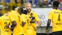 Ralf Seuntjens scoorde een hattrick voor NAC tegen ADO.