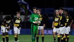 NAC-keeper Nick Olij na de verloren wedstrijd tegen FC Eindhoven.