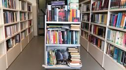 Een kast vol gedumpte boeken. (Foto: Rogier van Son)