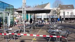 Ook de terrassen in Oss zullen voorlopig leeg blijven (foto: Gabor Heeres).
