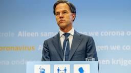 Rutte en De Jonge geven vrijdagavond een persconferentie over nieuwe coronamaatregelen (foto: ANP/Robin Utrecht).