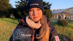 Lindsay van Zundert na winst in Duitsland.