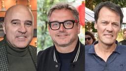 PSV-fans: John van den Heuvel, Guus Meeuwis en Tijs van den Brink
