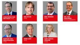 De nieuwe gedeputeerden van de provincie (foto: Provincie Noord-Brabant)